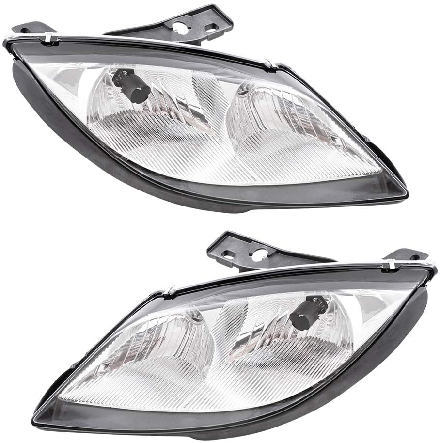 Replacement Driver and Passenger Set Headlights Compatible with 2003 2004 2005 Sunfire 22713668 22713667