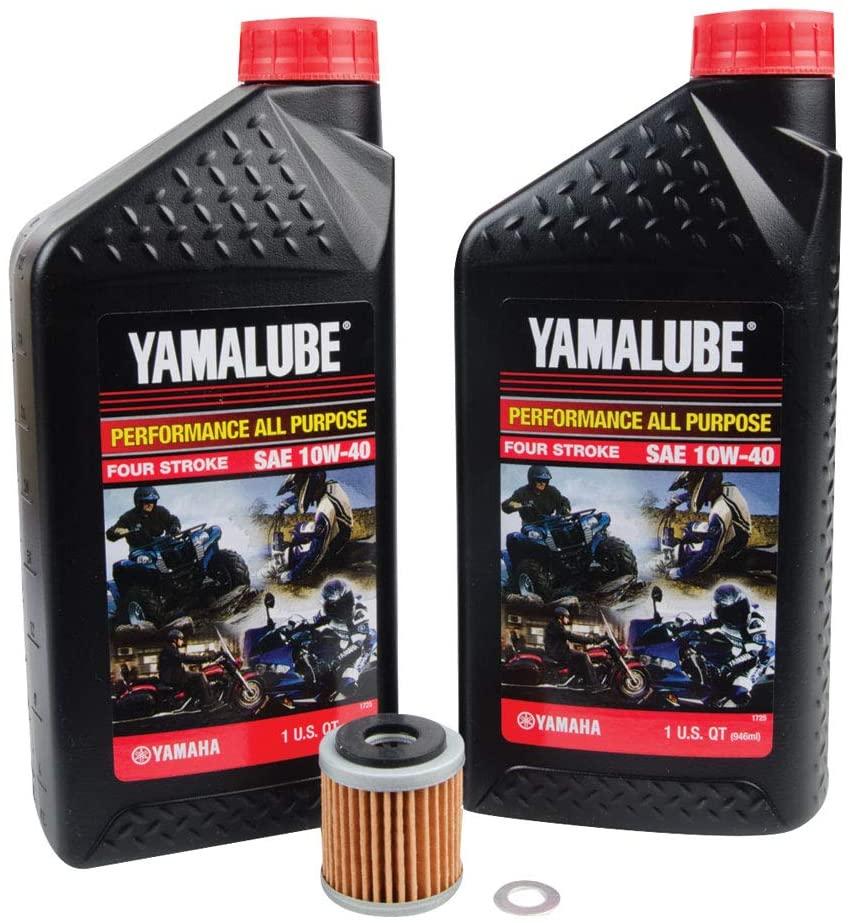 TUSK 4-Stroke Oil Change Kit Yamalube All Purpose 10W-40
