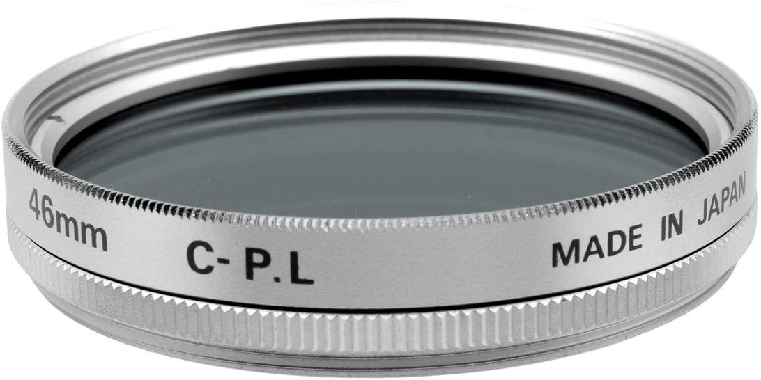 Fujiyama Silver 46mm Circular Polarizing Filter for Panasonic Lumix G Vario 35-100mm F4.0-5.6 ASPH Mega OIS Made in Japan