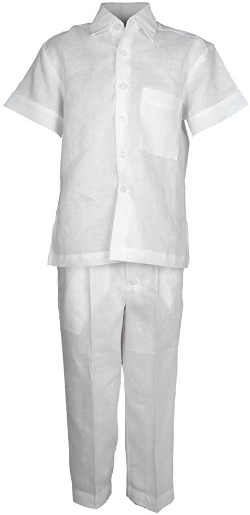 Mojito Kids Boys Linen One Pocket Shirt and Pant Set