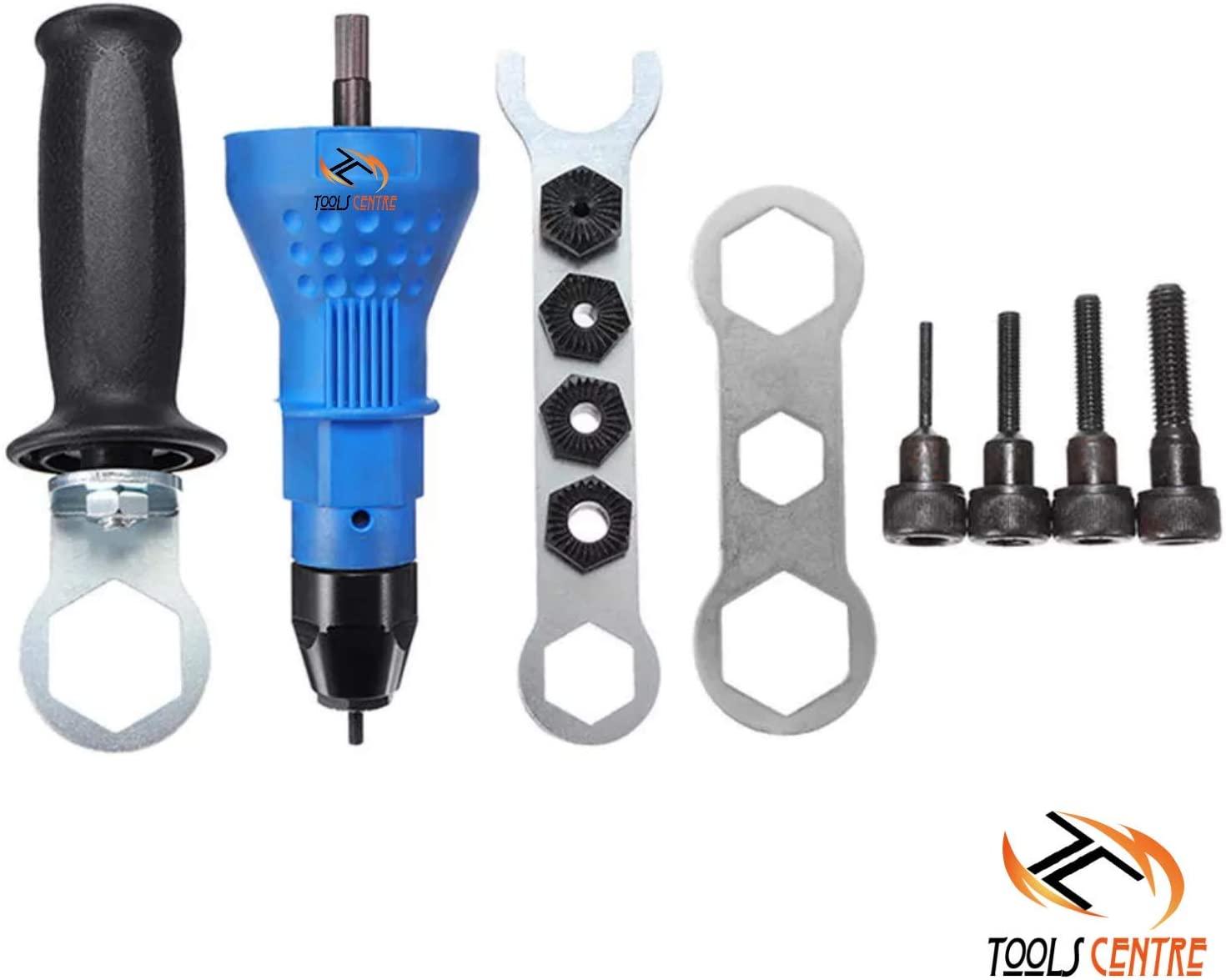 Tools Centre Hex Shank Riveter Nut Drill Adaptor Attachment Insert Riveter Riveting