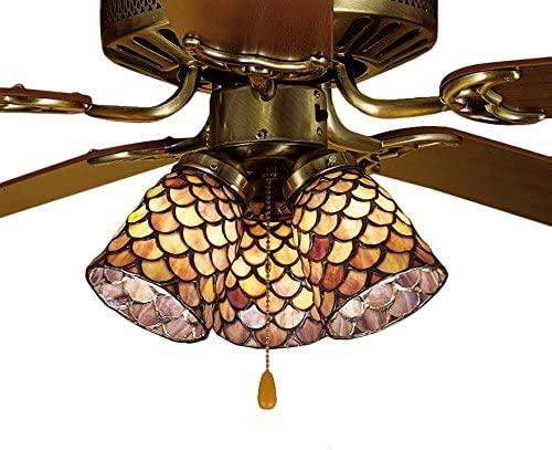 Meyda Tiffany 27469 Fanlight Shade, Bronze/Dark
