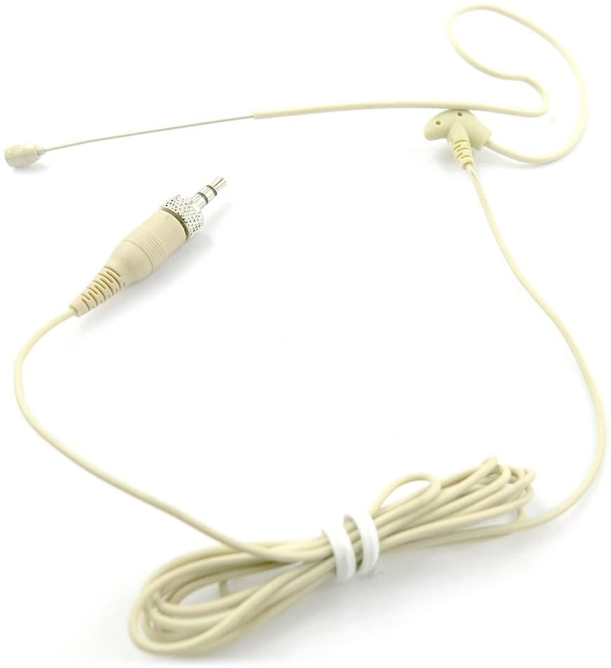 In-Ear Back Electret Microphone - Professional Mini Portable Omnidirectional Wired Headset Voice Audio Corded Condenser Mic w/ Cable Wire For Sennheiser System or Studio Mixer - Pyle PMEMSN12
