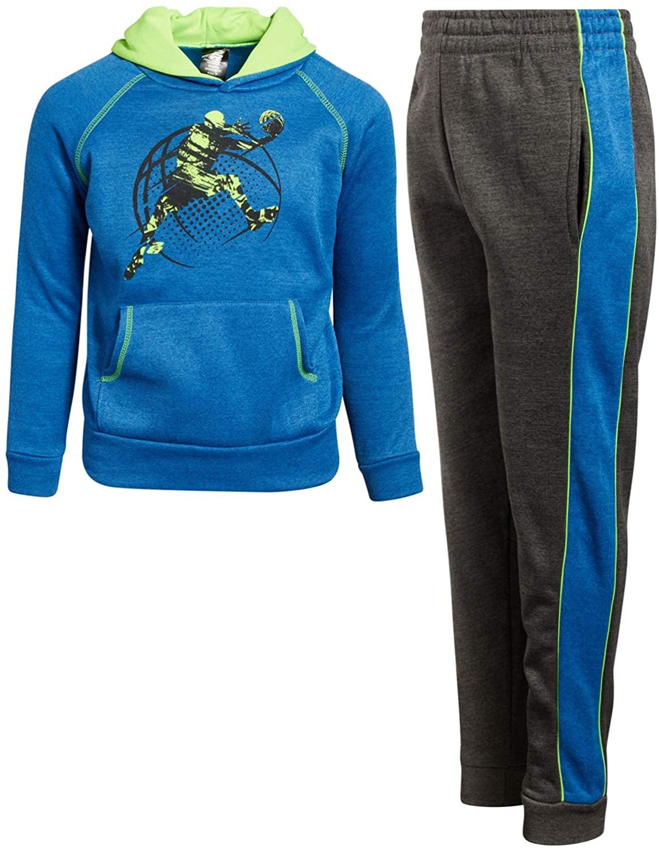 Pro Athlete Boys' 2-Piece Athletic Fleece Jogger Set (Toddler and Little Boys)