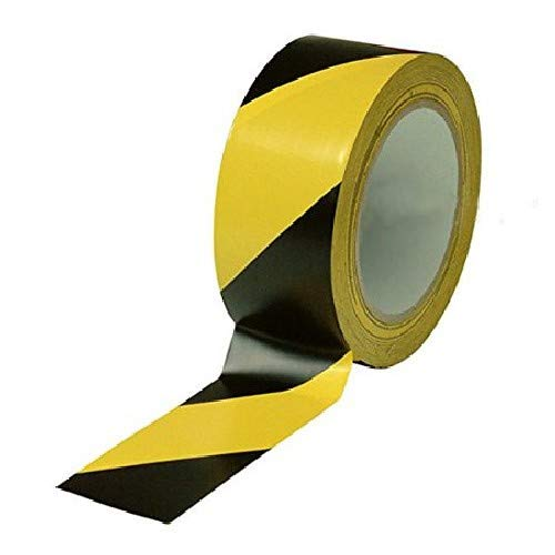 Harris Industries, Inc. HT204BY 4in x 54ft Black and Yellow Striped Hazard Warning Tape