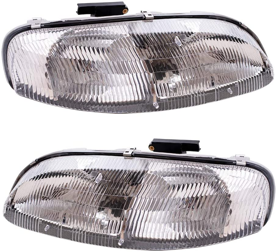 Replacement Driver and Passenger Set Headlights Compatible with Lumina Monte Carlo 10420375 10420376