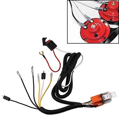 JIN 12V Horn Wiring Harness Relay Kit for Car Truck Grille Mount Blast Tone Horns