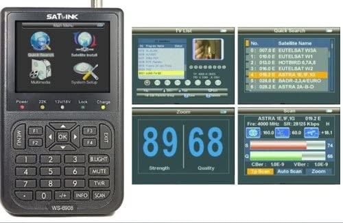 New Dreamland(TM) SATlink WS-6908 3.5 - Inch DVB-S FTA Professional Digital Satellite Signal Finder Meter