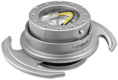 NRG Innovations, SRK-650SL, 6 Hole Steering Wheel Silver Quick Release Hub Adapter with Handle Gen 3.0 SRK-650SL