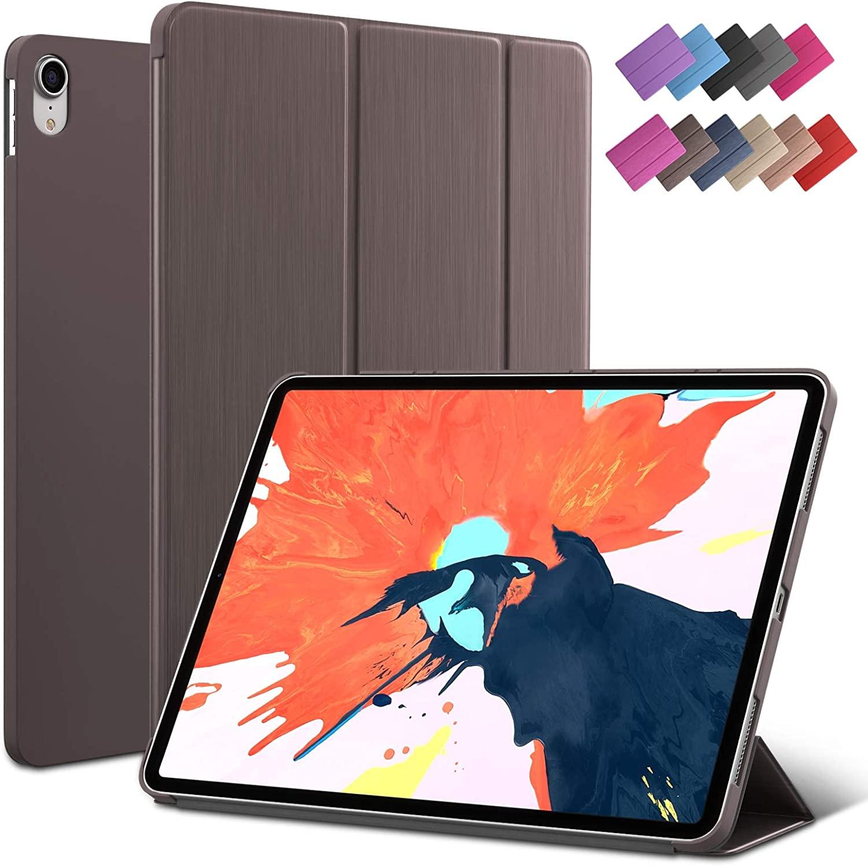 iPad Pro 11-inch case, ROARTZ Metallic Brown Slim Fit Smart Rubber Coated Folio Case Hard Cover Light-Weight Auto Wake/Sleep for 2018 Apple iPad Pro Model A1980 A2013 A1934