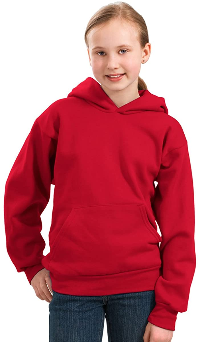 Port & Company Youth Pullover Hooded Fleece, XL, Red