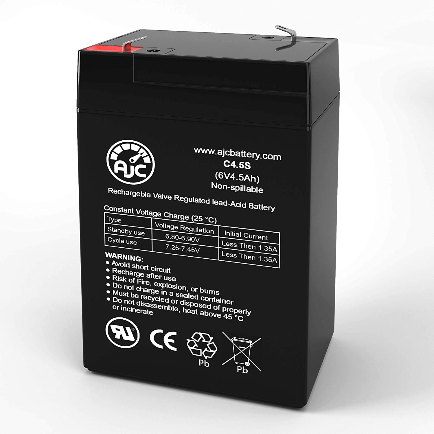 McPhilben/Daybright DBL6V5A1 6V 4.5Ah Emergency Light Battery - This is an AJC Brand Replacement