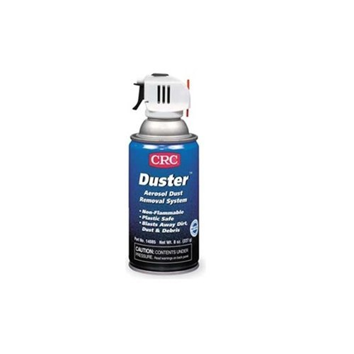 CRC Duster Aerosol Dust Removal Liquefied Gas System, 8 oz Aerosol Can with Trigger, Clear