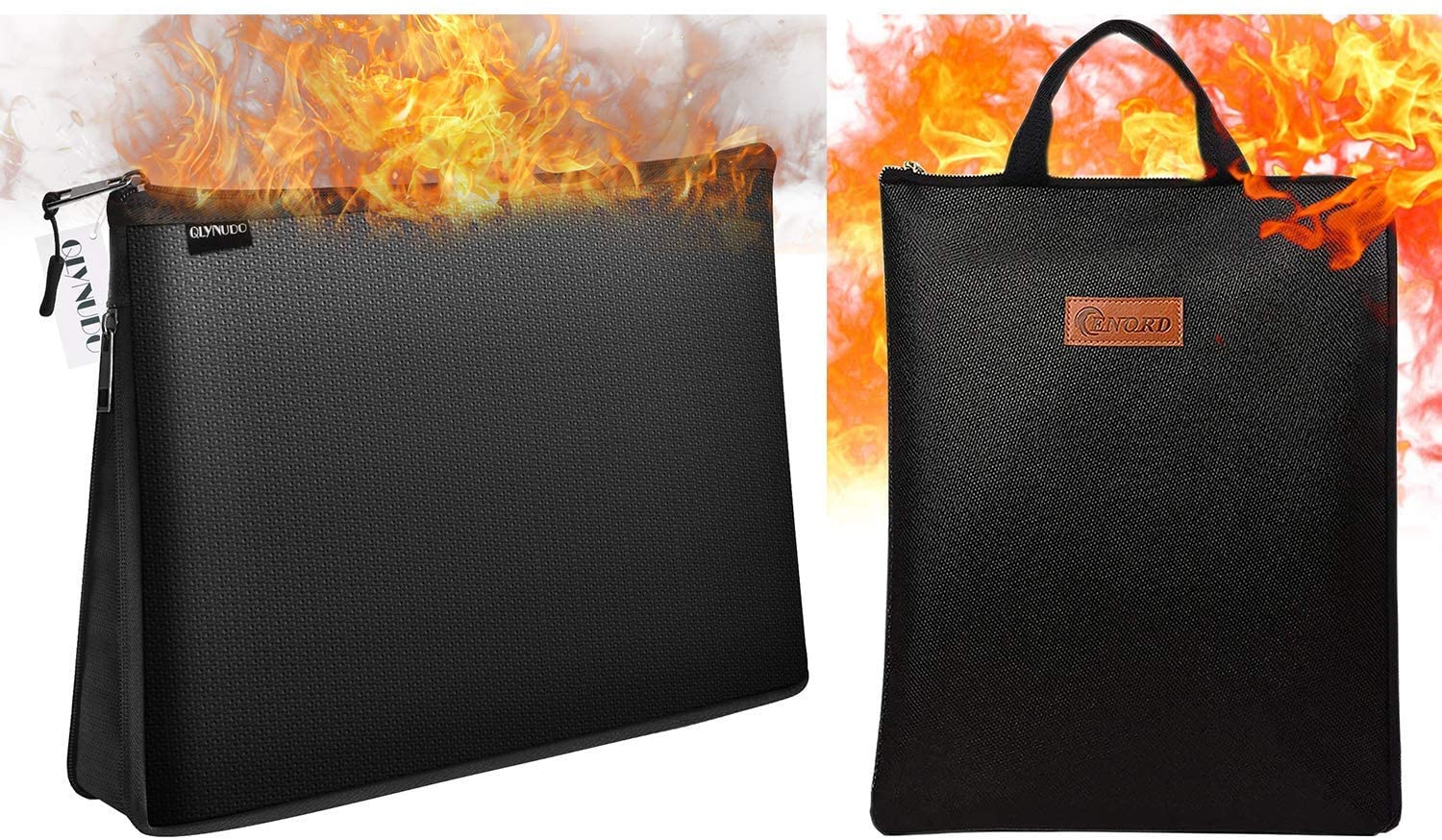 Fire Safe Pouch for Document and Fireproof Money Bag Bundle