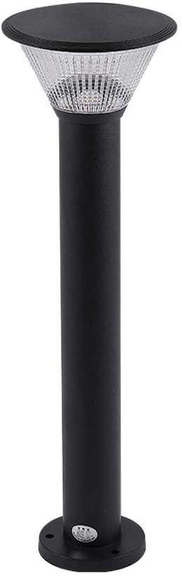 WHYA 60cm Modern LED Lawn Lamp Outside IP65 Waterproof Park Post Pillar Lantern Light Landscape Floor Lamp Outdoor Rainwater Garden Exterior Column Lighting - 7W Warm Light (Color : Black)