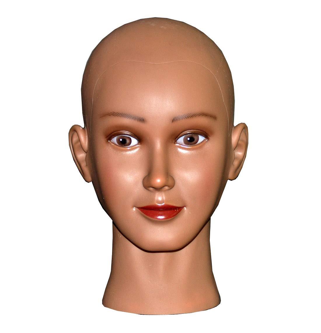 Ladella Beauty Cosmetology Wig Stand Block Bald Female Makeup Manikin Head for Wigs Making