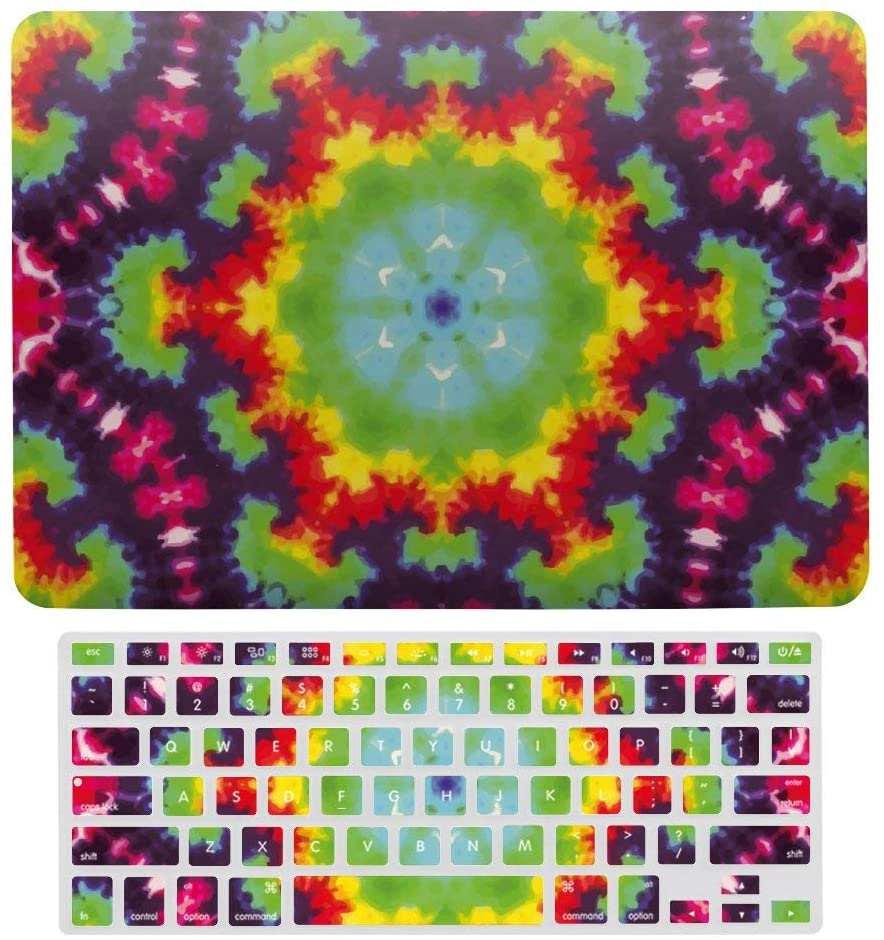 Tie Dye Diffusion Pattern Plastic Hard Case Shell & Keyboard Cover for MacBook Air 13