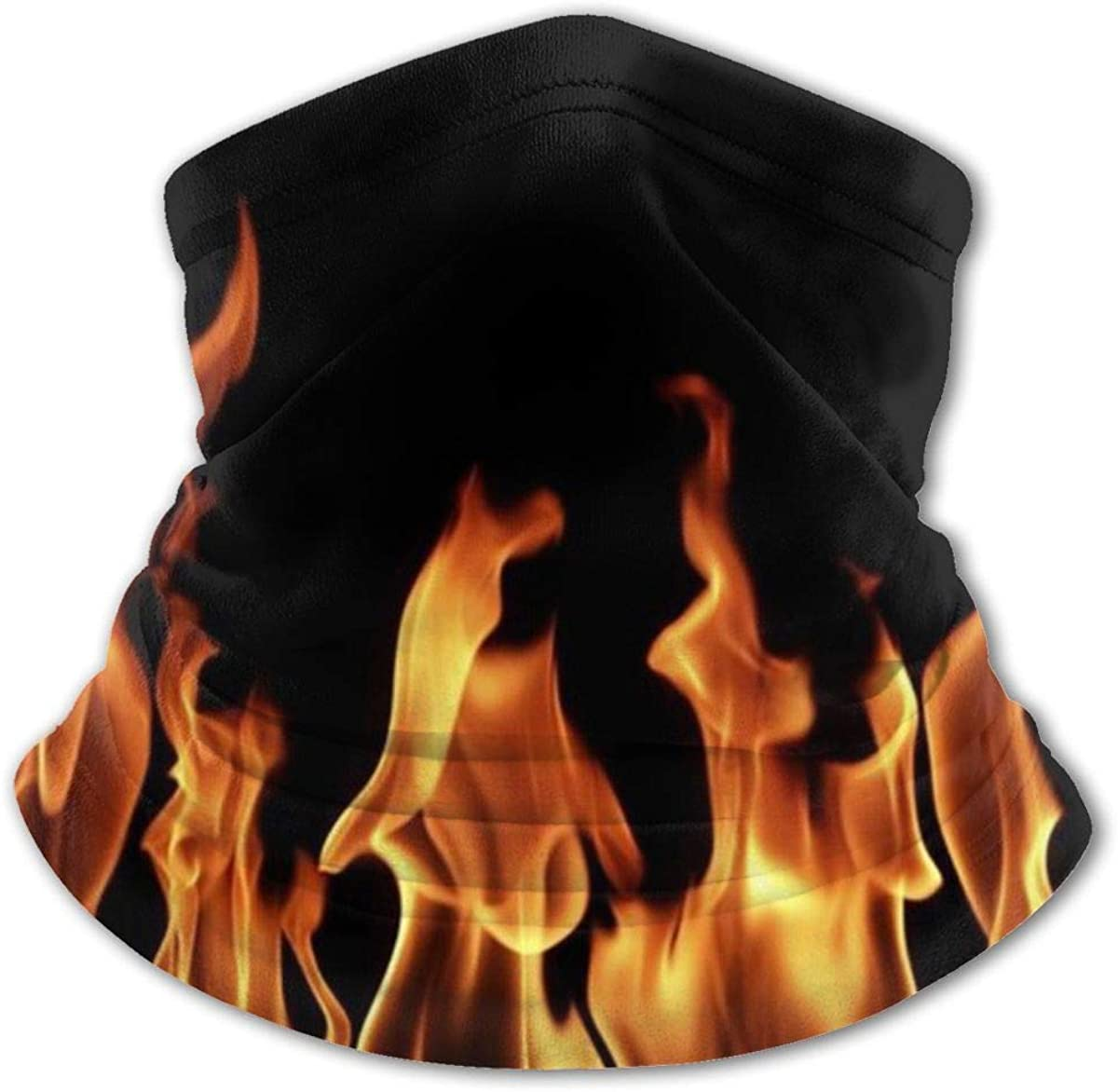 Burning Flame Print Headwear For Girls And Boys, Head Wrap, Neck Gaiter, Headband, Tenn Fishing Mask, Magic Scarf, Tube Mask, Face Bandana Mask For Camping Running Cycling