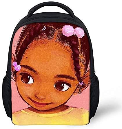 Girls Boys Mini Backpack Purse Kindergarten Toddlers Shoulder Bag African American Art Black Girls Design Kids Personalized Backpack