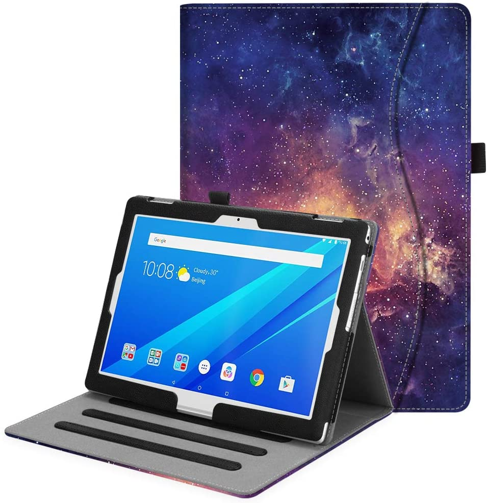 Fintie Case for Lenovo Tab 4 10.1, Multi-Angle Viewing Folio Stand Cover with Pocket Auto Wake/Sleep for Lenovo Tab 4 10/Lenovo Tab 4 Plus 10/AT&T Lenovo Moto Tab 2017 Release/TAB E10 TB-X104F