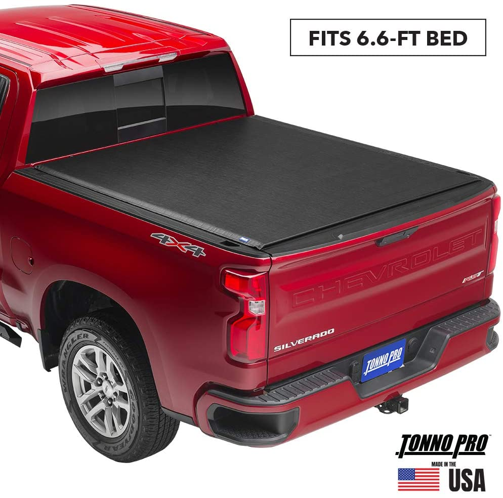 Tonno Pro Lo Roll, Soft Roll-up Truck Bed Tonneau Cover | LR-3035 | Fits 2008 - 2016 Ford F-250, F-350, F-450 Super Duty 6'6