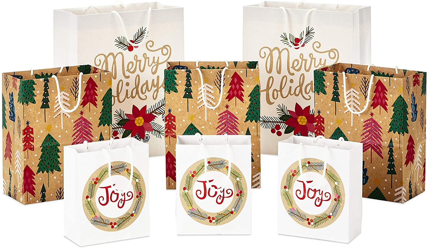 Hallmark 0005XGB1412, Assorted, Sustainable Bright and Bold Bundle