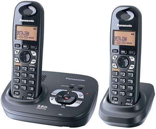 Panasonic 5.8 GHZ Expandable Digital Cordless Answering System - Dual Handset System (KX-TG4322B)