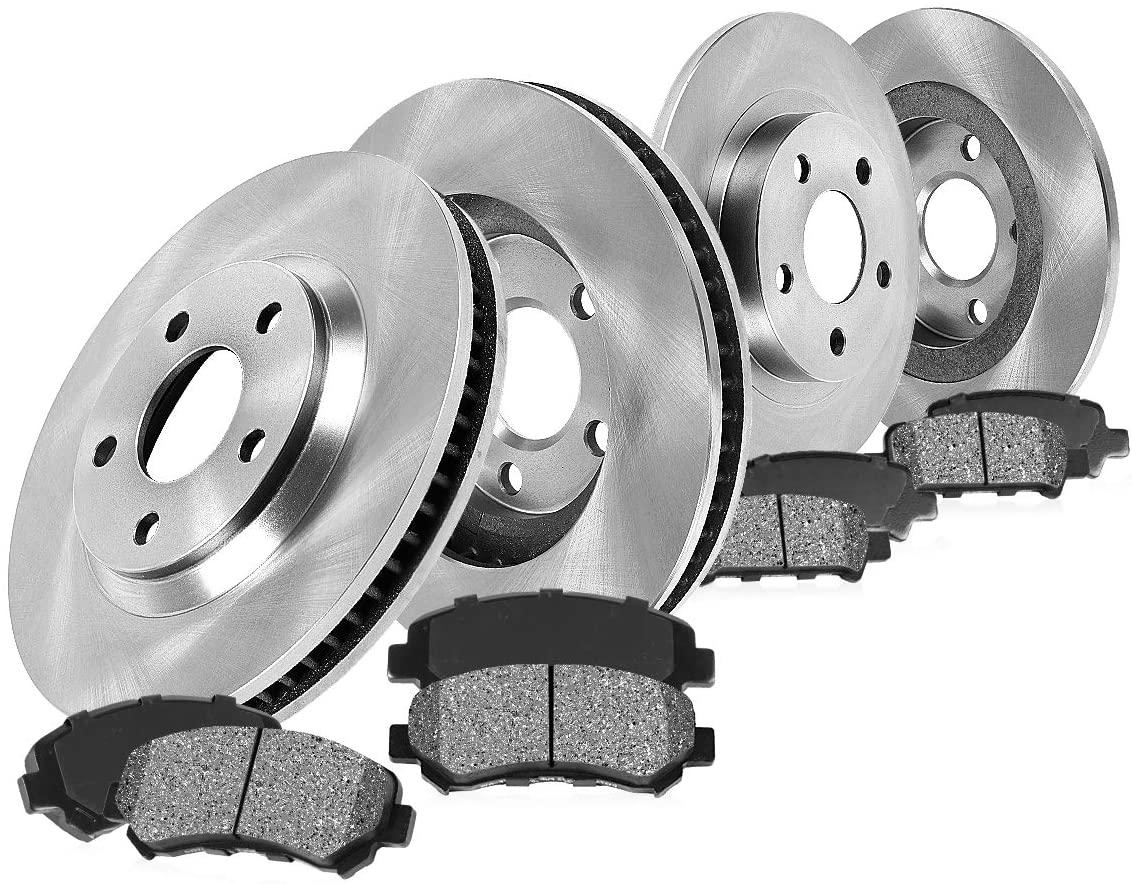 CRK13814 FRONT 311.8 mm + REAR 254.7 mm Premium OE 5 Lug [4] Rotors + [8] Metallic Brake Pads