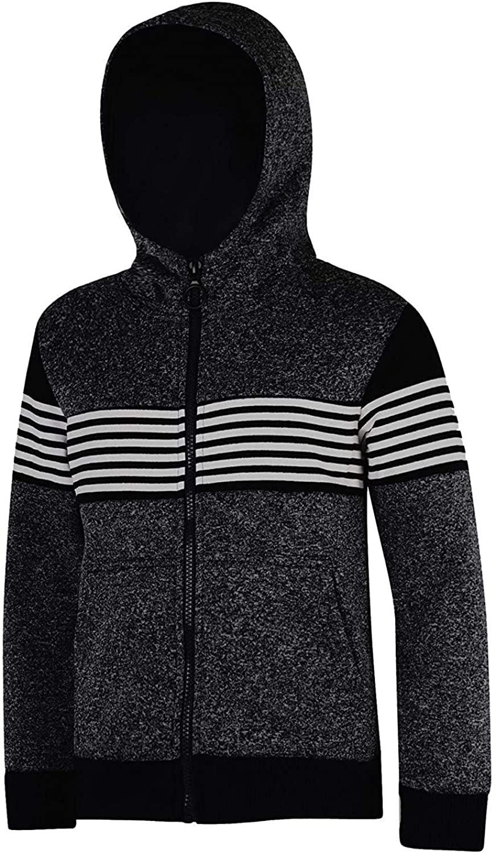 LotMart Kids Marl Print Stripe Inserts Jacket in Black 13-14 Years