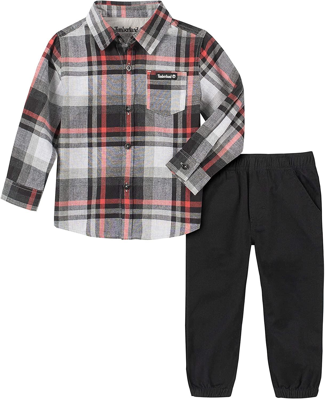 Timberland Boys 2 Pieces Shirt Pants Set