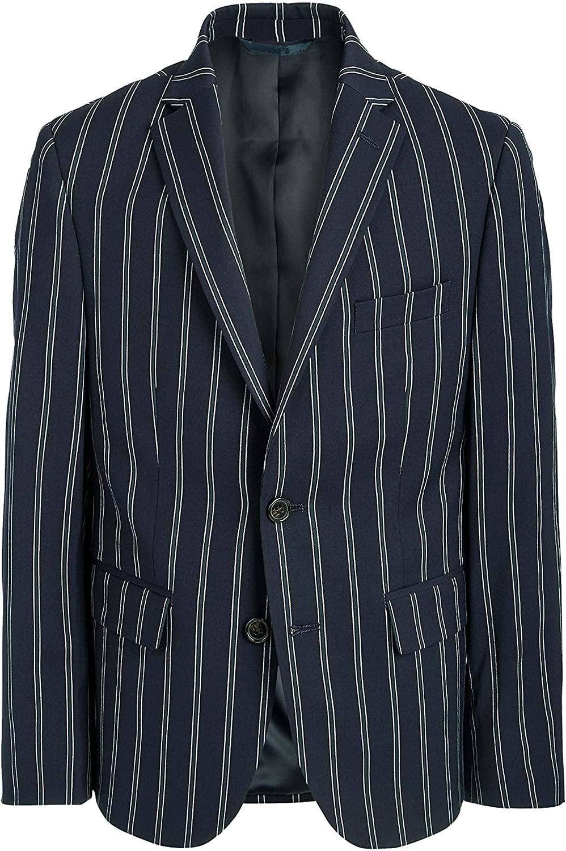 LAUREN RALPH LAUREN Big Boys Classic-Fit Stretch Navy Blue Stripe Sport Coat Jacket 16