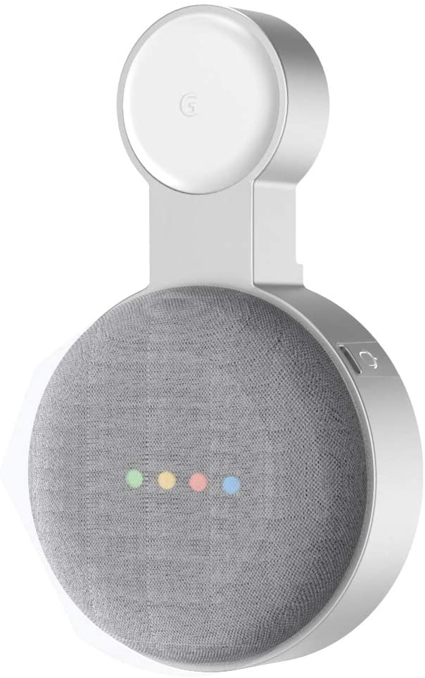 Outlet Wall Mount Holder for Google Nest Mini(2nd Gen)-Space Saving AC Outlet Mount Prefect Cord Management for Google Nest Mini Voice Assistant