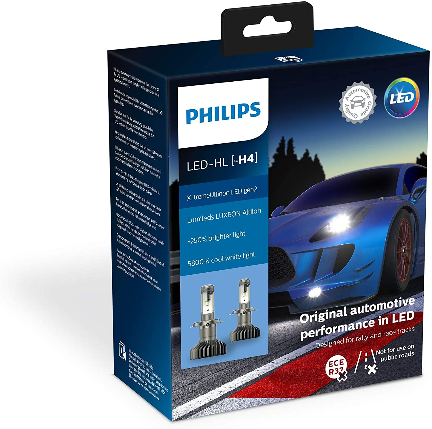 Philips X-tremeUltinon gen2 LED X-treme Ultinon Car Headlight Bulbs H4 (Twin)