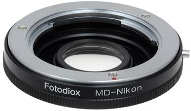 Fotodiox Pro Lens Mount Adapter Compatible with Minolta MD Lenses to Nikon F-Mount Cameras