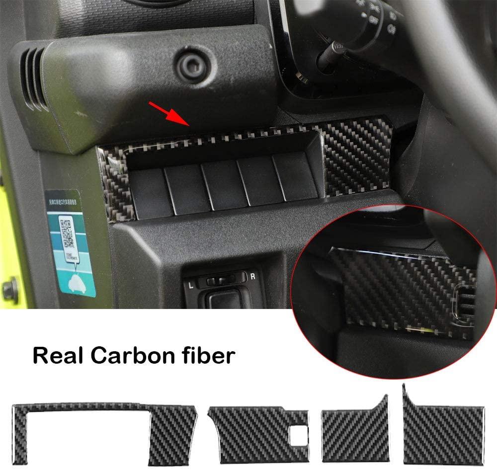 4Real Carbon Fiber Center Console Panel Cover Trim Fit for Suzuki Jimny 2019+