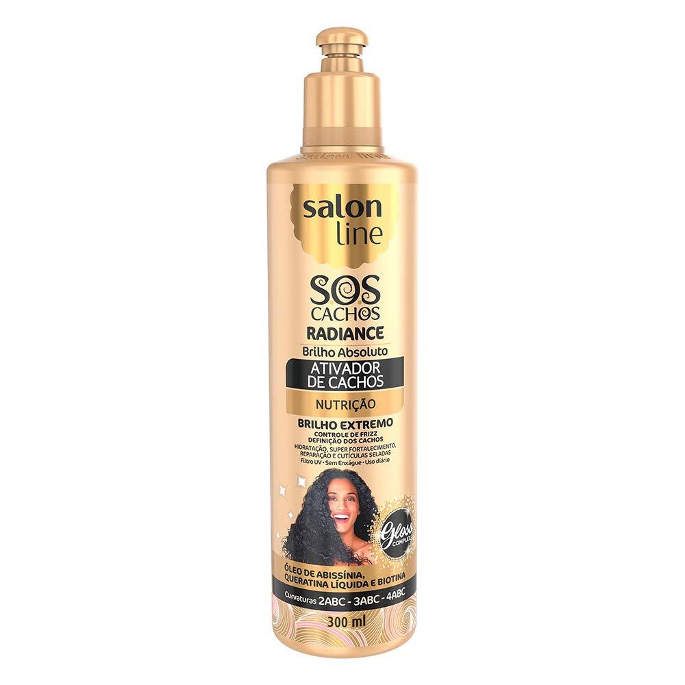 Salon Line - Linha Tratamento (Radiance Brilho Absoluto) - Ativador De Cachos 300 Ml - (Salon Line - Treatment (Radiance Absolute Shine) Collection - Curl Activator 10.14 Fl Oz)