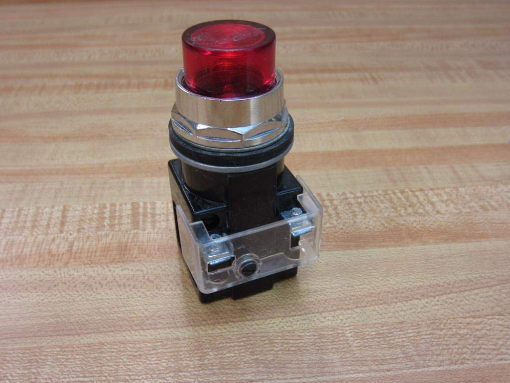 FURNAS ELECTRIC CO 52PA4G2 Incandescent Bulb, Pilot Light, Metal Transformer Type, 120 VAC Complete Device RED, Discontinued by Manufacturer, Plastic Lens Illuminated