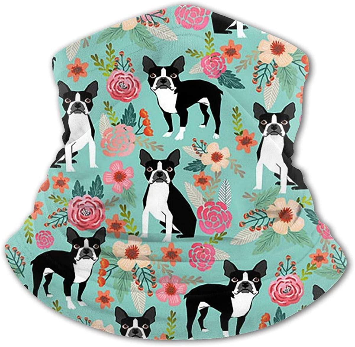 Boston Terrier Headwear For Girls And Boys, Head Wrap, Neck Gaiter, Headband, Tenn Fishing Mask, Magic Scarf, Tube Mask, Face Bandana Mask For Camping Running Cycling
