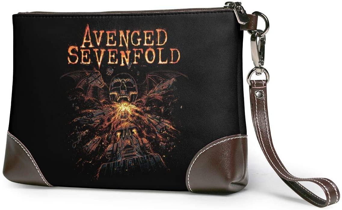 Avenged Sevenfold Soft Lambskin Leather Wristlet Clutch Bag for Women Designer Large Wallets