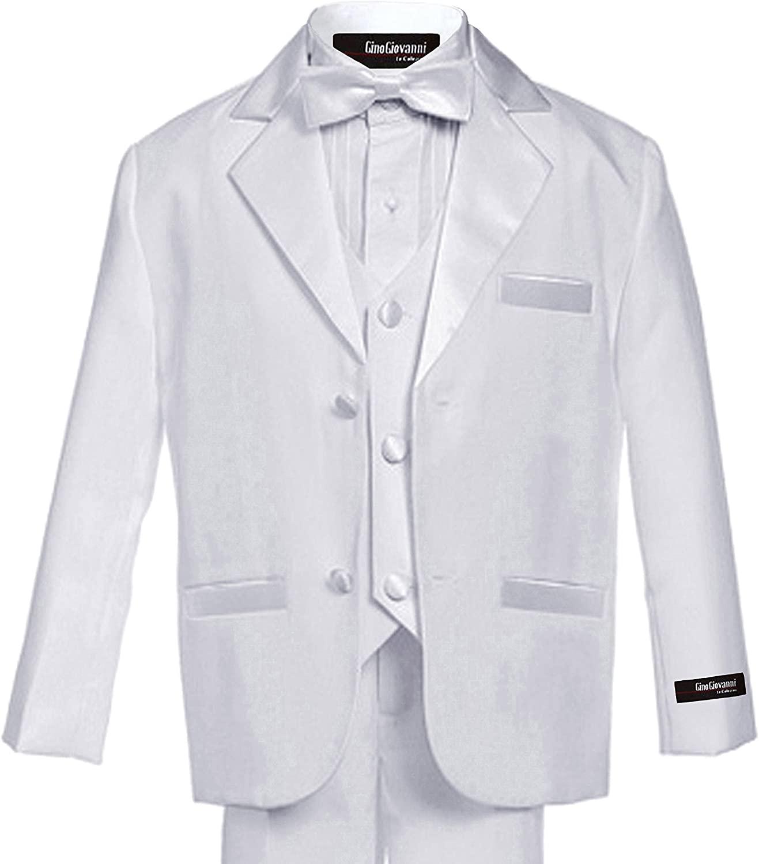 Gino Giovanni Usher Tuxedo Boy White from Baby to Teen (2T)