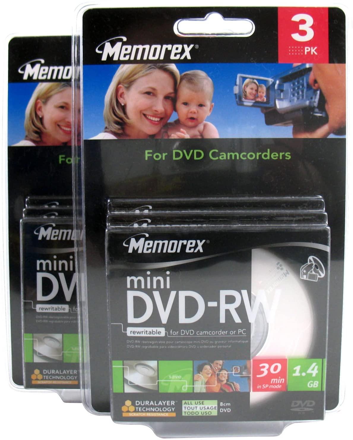 Memorex - Mini DVD-RW - 30 Min - 1.4GB - 2 X (3 Pack) - 6 Discs