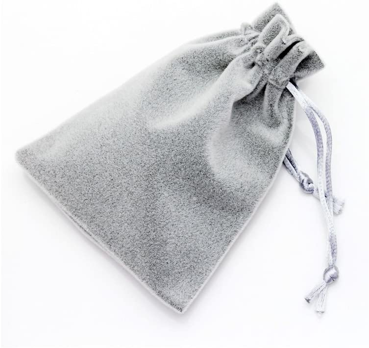 MEALL Gift Bags Velvet Drawstring Wedding Favor Jewelry Pouch, Pack of 5 (4.7