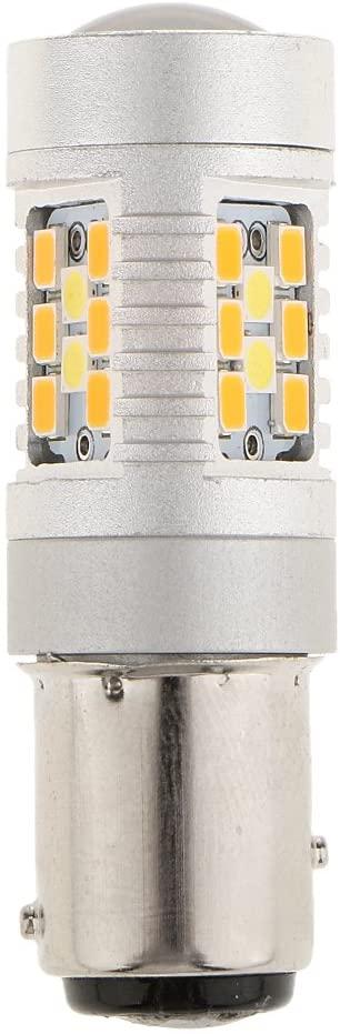 prasku 1157 Switchback Amber White Turn Signal DRL Headlight LED Bulb 28 PCS SMD