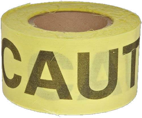 Harris Industries, Inc. WCL05-2 2in x 200ft Cotton Caution Barrier Tape