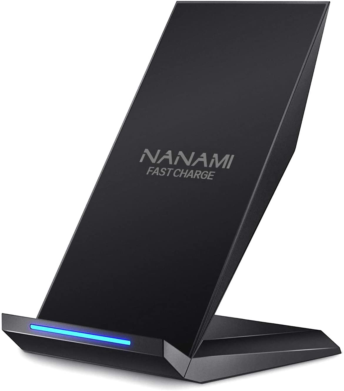 Fast Wireless Charger,NANAMI Qi Certified Wireless Charging Stand Compatible iPhone SE/11/11 Pro/11 Pro Max/XS/XS Max/XR/X/8 Plus,Samsung Galaxy S20 S10 S9 S8 S7 Edge Note 10+/9/8 and Qi-Enabled Phone