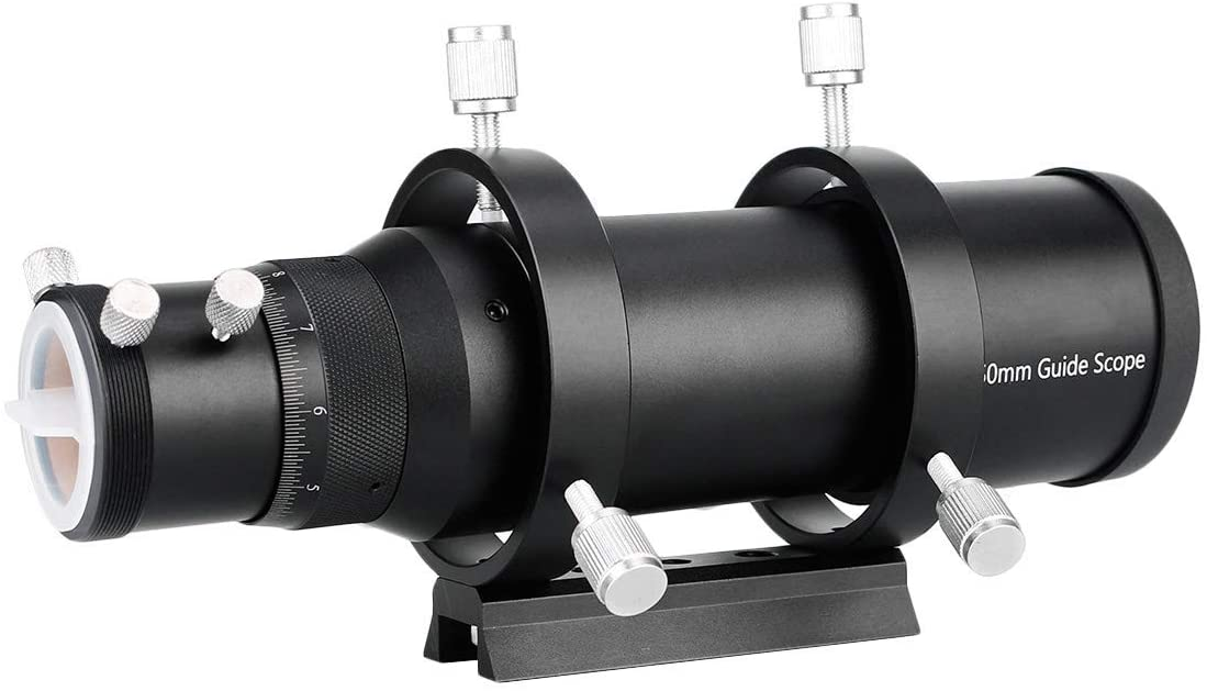 Gulakey 50Mm Compact Deluxe Finder Scope 1.25 Double Helical Focuse for Astronomy Telescope
