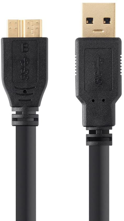 UC-E22 Replacement USB Cable for Nikon DSLR D500 Camera, USB 3.0 A to Micro B Cable, 6 Feet