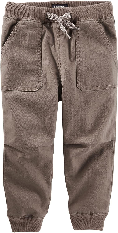 OshKosh Little Boys Twill Jogger Pants Beige/brown