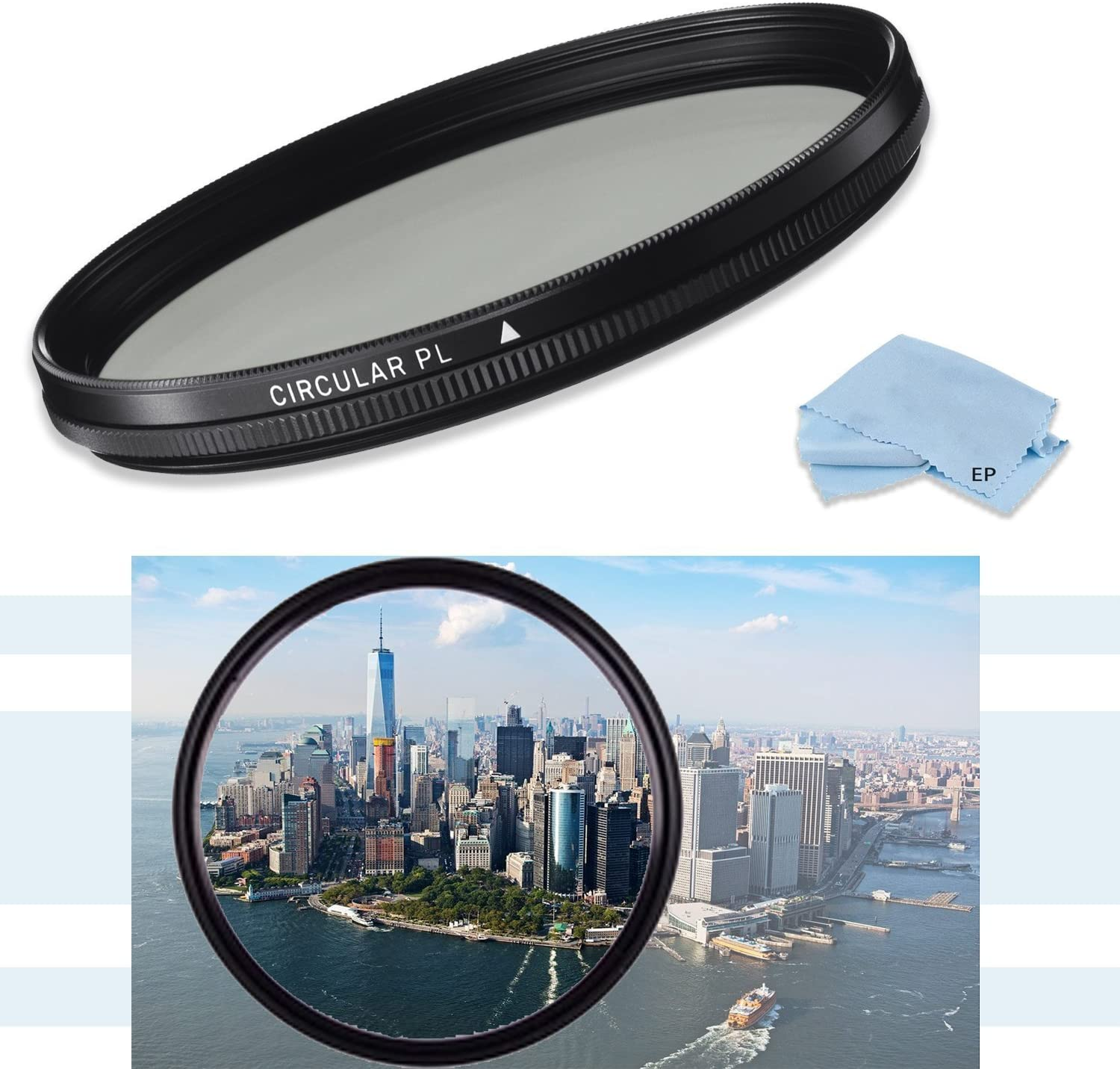 High Definition 58mm CPL Circular Polarizing Filter with Multi-Coating for Canon EF 70–300mm f/4.5–5.6 DO is USM Lens, Canon EF 70–300mm f/4–5.6 is USM, Canon EF 75-300mm f/3.5-5.6 III Lens