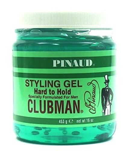 Clubman Style Gel Mens Hard To Hold 16 Ounce (473ml) (6 Pack)
